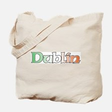 Dublin with Flag Tote Bag