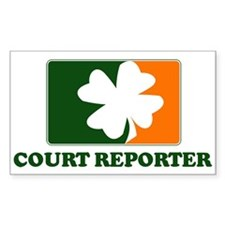 Irish COURT REPORTER Rectangle Decal