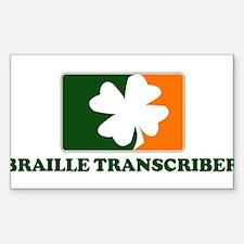 Irish BRAILLE TRANSCRIBER Rectangle Decal