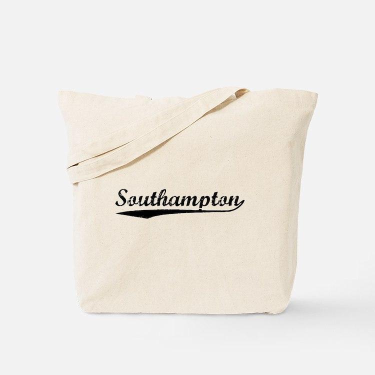 Vintage Southampton (Black) Tote Bag