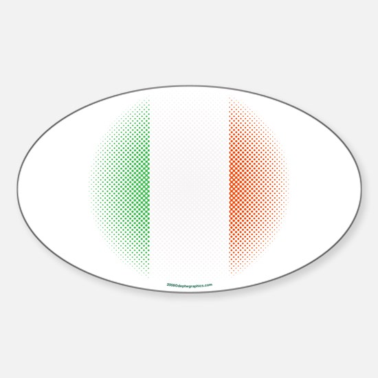 Flag with Dot Pattern Oval Decal