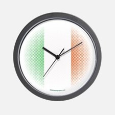 Flag with Dot Pattern Wall Clock