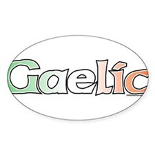 Gaelic with Flag Oval Decal