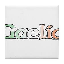 Gaelic with Flag Tile Coaster