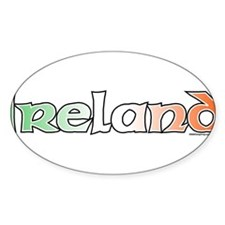 Ireland with Flag Oval Decal