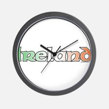 Ireland with Flag Wall Clock