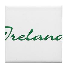 Ireland Script Tile Coaster