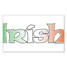 Irish with Flag Rectangle Decal