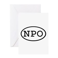 NPO Oval Greeting Card
