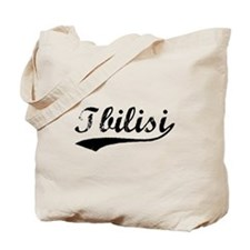 Vintage Tbilisi (Black) Tote Bag
