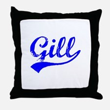 Vintage Gill (Blue) Throw Pillow