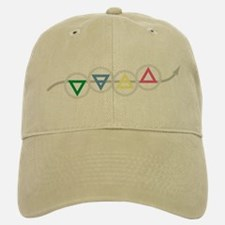 Earth, Water, Air, and Fire Elements Baseball Baseball Cap