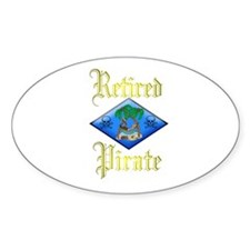 Retired Pirate Plan. Oval Decal