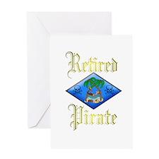 Retired Pirate Plan. Greeting Card