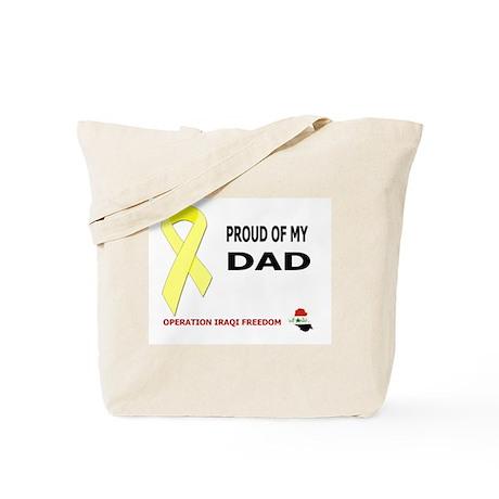 PROUD OF MY DAD Tote Bag