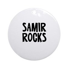 Samir Rocks Ornament (Round)