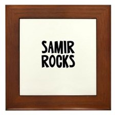 Samir Rocks Framed Tile