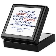 Heritage: Created Equal Keepsake Box
