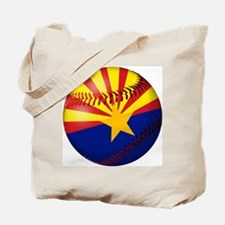 Baseball Arizona Flag Tote Bag