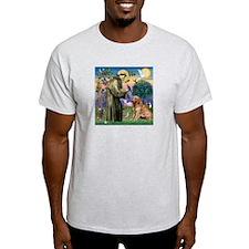 St Francis & Golden T-Shirt