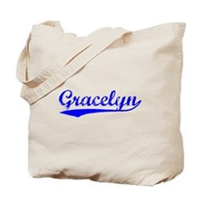 Vintage Gracelyn (Blue) Tote Bag