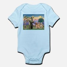 St Francis / Golden Retriever (3) Infant Bodysuit
