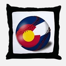 Baseball Colorado Flag Throw Pillow