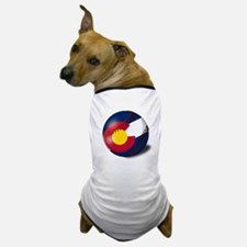 Baseball Colorado Flag Dog T-Shirt