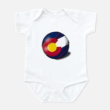 Baseball Colorado Flag Infant Bodysuit