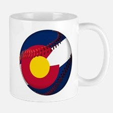 Baseball Colorado Flag Mug