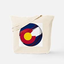 Baseball Colorado Flag Tote Bag