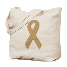 Gold Awareness Ribbon Tote Bag