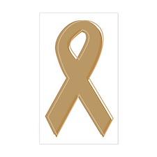 Gold Awareness Ribbon Rectangle Decal