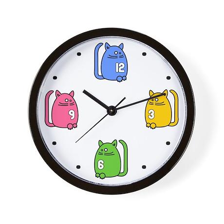 Funky Kat Klok - Cat Kids Wall Clock