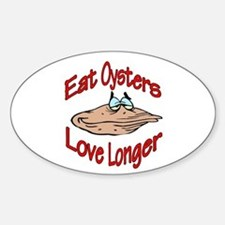 Like Oysters Oval Bumper Stickers