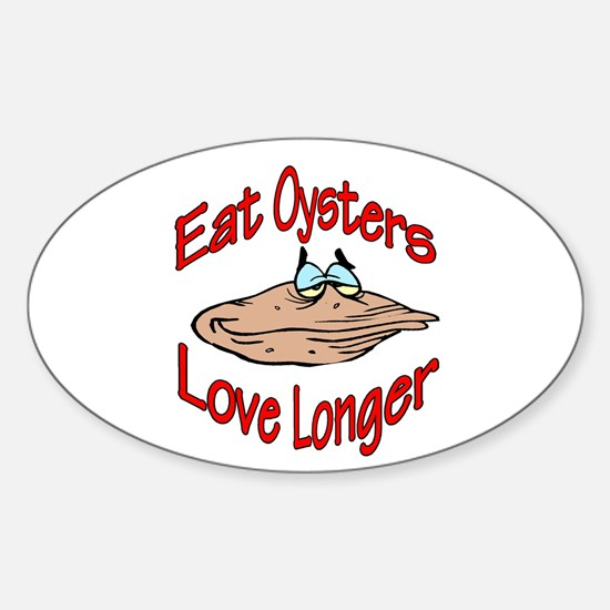 Like Oysters Oval Decal