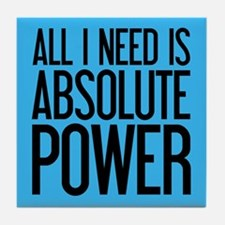 Absolute Power Tile Coaster
