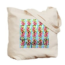 Tropical Flowers Beach Tote Bag