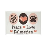 Peace Love Dalmatian Rectangle Magnet (100 pack)