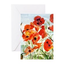 Wind Poppies Greeting Cards (Pk of 10)