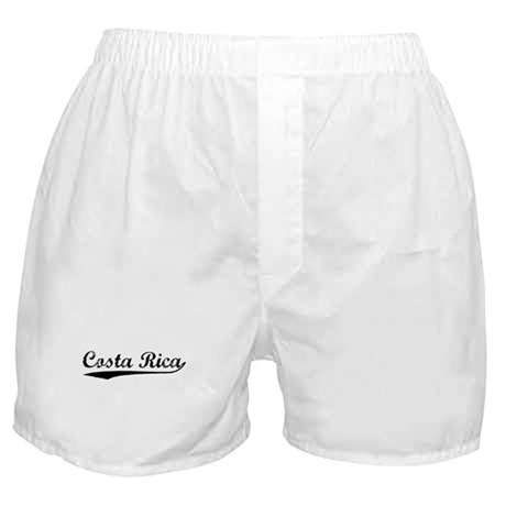 Vintage Costa Rica (Black) Boxer Shorts