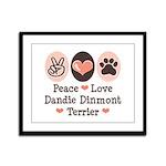 Peace Love Dandie Terrier Framed Panel Print