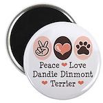 Peace Love Dandie Terrier Magnet