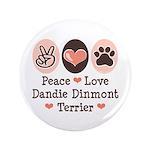 Peace Love Dandie Terrier 3.5
