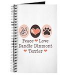 Peace Love Dandie Terrier Journal