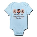 Peace Love Dandie Terrier Infant Bodysuit
