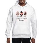 Peace Love Dandie Terrier Hooded Sweatshirt
