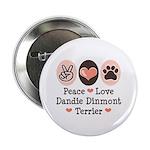Peace Love Dandie Terrier 2.25