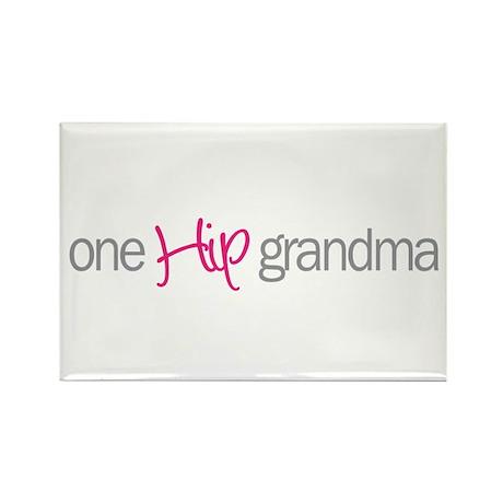 one hip grandma Rectangle Magnet