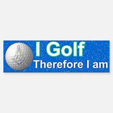 Masonic Golfer Bumper Bumper Bumper Sticker